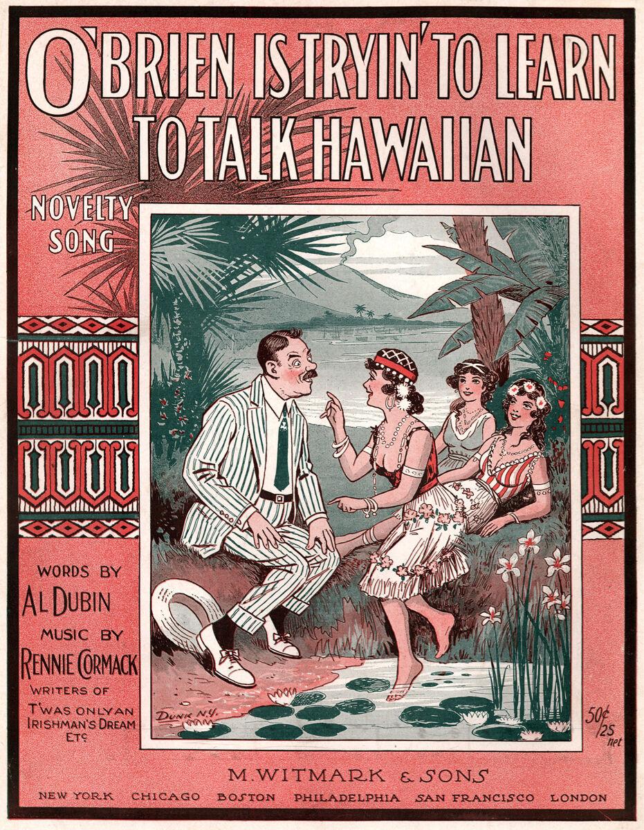 16x20  CANVAS Decor.Room art print.Learning to talk Hawaiian.Hawaii.5999