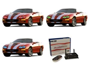 for Mitsubishi 3000GT 94-98 RGB Multi Color LED Halo kit for Headlights