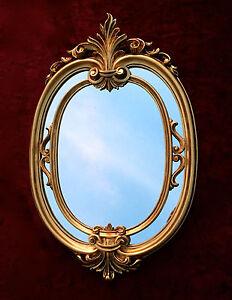 Specchio da parete ovale oro barocco specchio bagno oggetto d 39 antiquariato ovale ebay - Specchio ovale per bagno ...
