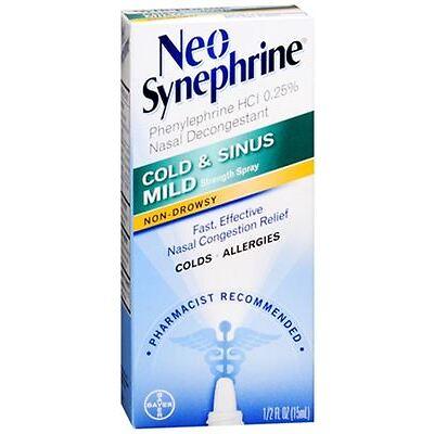 Neo-Synephrine Spray Mild 0.50 oz (Pack of 4)