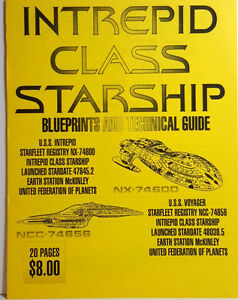 Intrepid Class Starship Blueprints & Technical Guide Set- 20 Sheets (M5625)