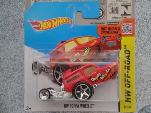 Hot Wheels 2014 #087//250 HW POPPA WHEELIE red OFF ROAD Batch L New Edition