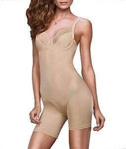 Flexees-Maidenform-Vintage-Chic-Firm-Control-Bodysuit-36D-Latte-Lift