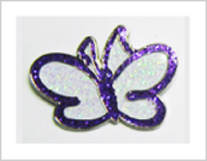 Thyroid UK Charity Butterfly Pin Badge