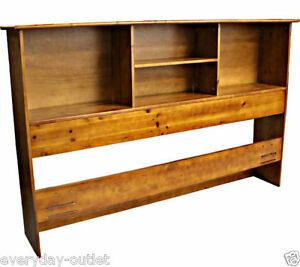 Solid Wood Bookcase Headboard Scandinavia Bedroom Furniture Dorm King Size Oak Ebay