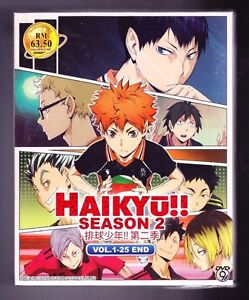 Details about *NEW* HAIKYU!! SEASON 2 *25 EPISODES*ENGLISH SUBTITLES*ANIME  DVD*US SELLER*