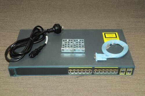 2 Gig//SFP w//Racks 1YrWty TaxInv Cisco WS-C2960-24TC-L 24-Ports 10//100//1000