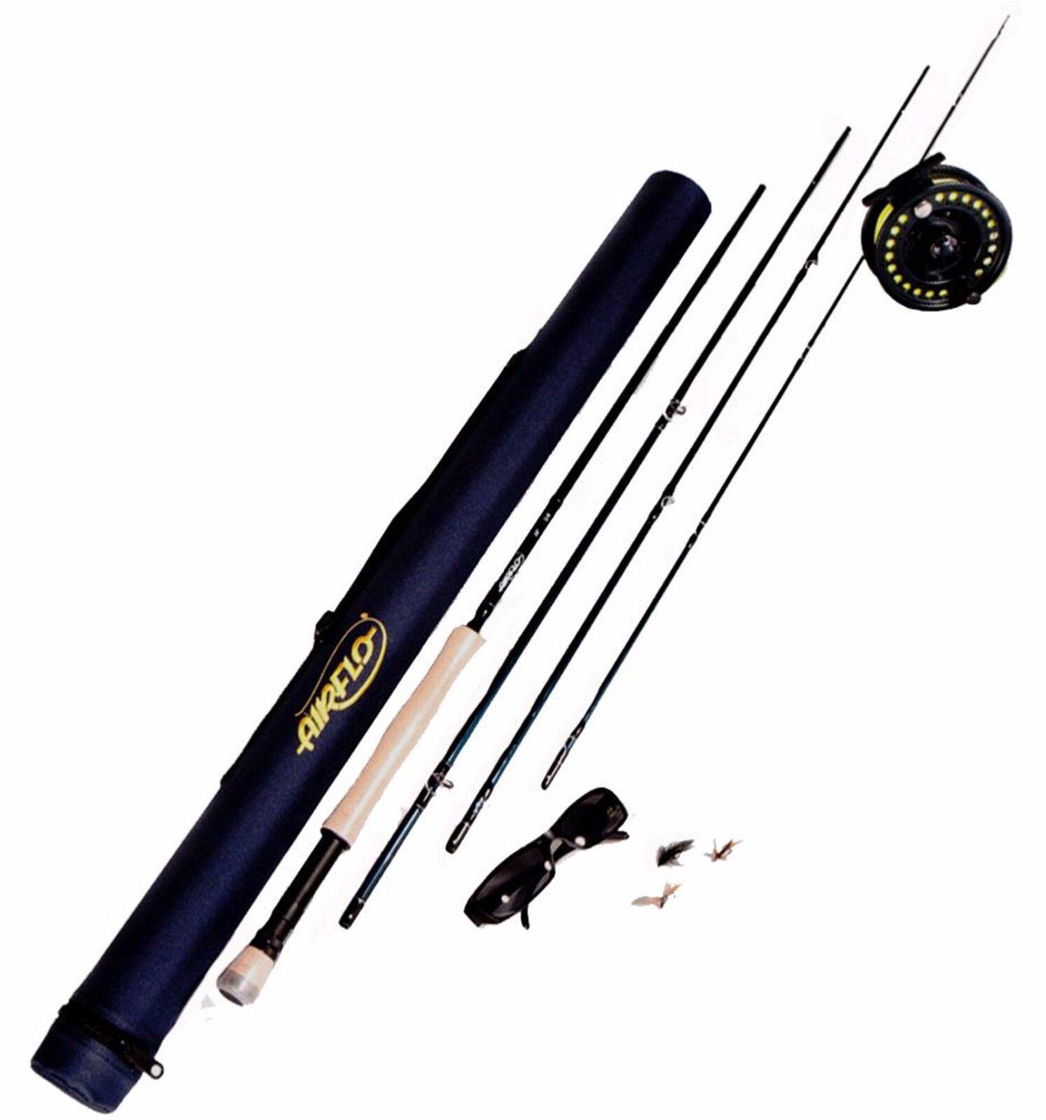 Leeda Airflo Fly Fishing Kits 9ft 8 9  Rod reel Float Fly Box & Tube