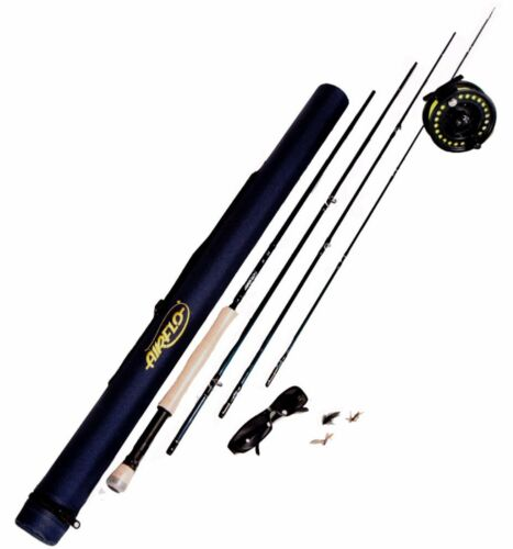 Leeda Airflo kit di pesca a mosca 9ft 6//7 wf7f CANNA MULINELLO GALLEGGIANTE FLY BOX /& TUBO