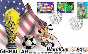 Gibraltar FDC 687-689, 19.04.1994, Football Worldcup USA 1994 - Forchheim, Deutschland - Gibraltar FDC 687-689, 19.04.1994, Football Worldcup USA 1994 - Forchheim, Deutschland