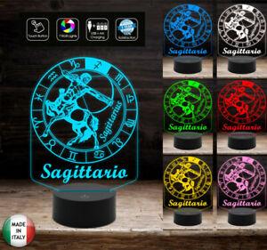 SEGNO-ZODIACALE-SAGITTARIO-Lampada-a-led-7-colori-selezionabili-con-touch-Idea