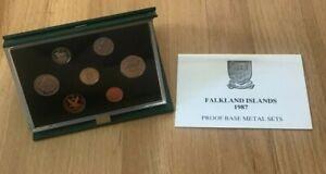 1987 Falkland Islands Proof Set - Original Packaging with COA