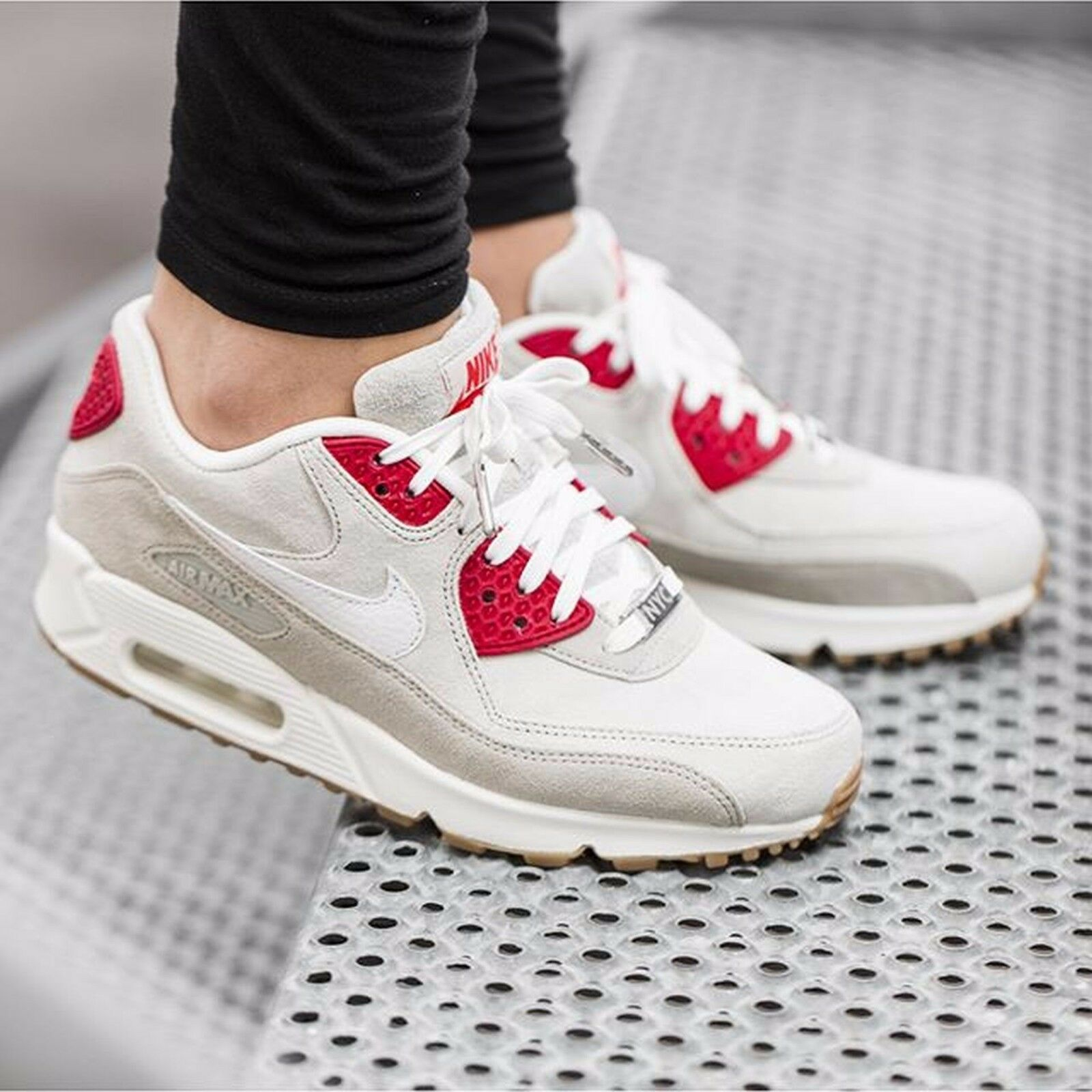 "NIKE Air Max 90 QS NYC ""Strawberry Cheesecake"" Wmn Shoes Sz 8.5 813150-200"