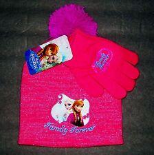 Disney Frozen Elsa e Anna Berretto Lavorato a Maglia Cappello Inverno    Guanti 62150aec79e8