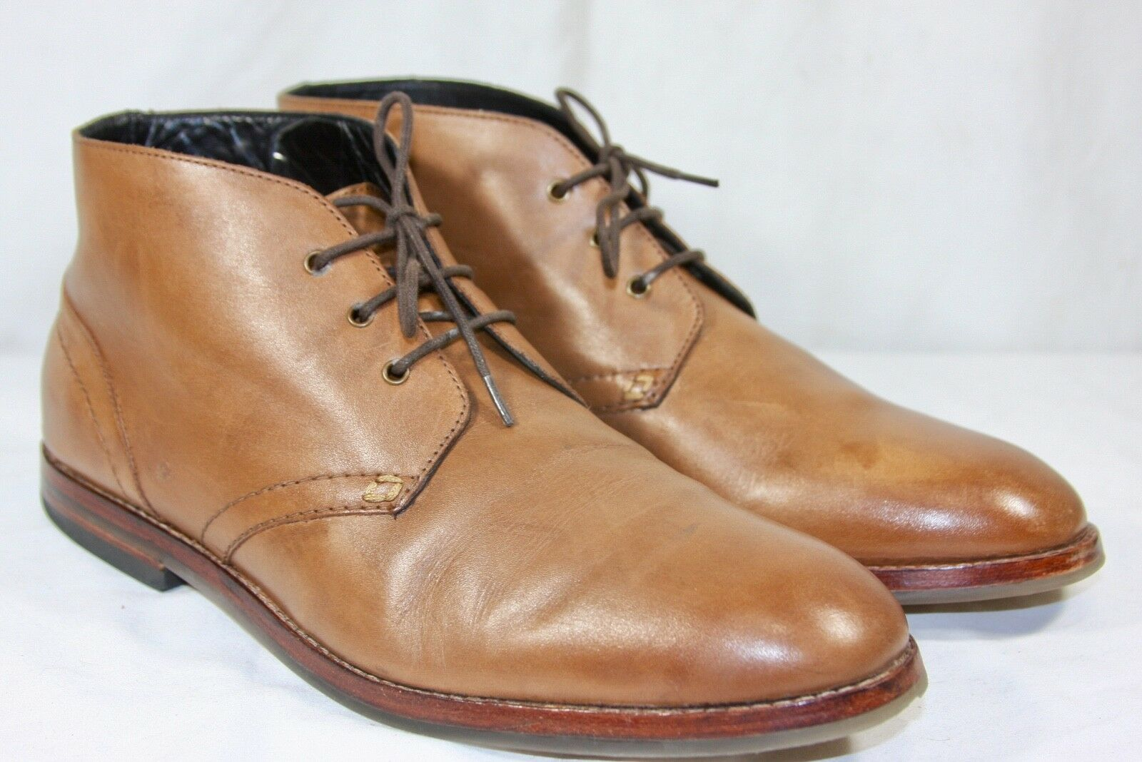 H By Hudson bluee Houghton Tan Leather Chelsea Chukka Boots 10   44
