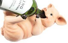 Cute Pink Piggy Pig Wine Bottle Holder Guzzler Bar Decoration Figurine Statue