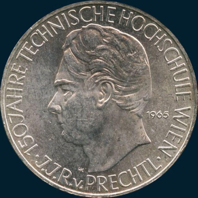1965 Austria 25 Schilling Coin (13 Grams .800 Silver)