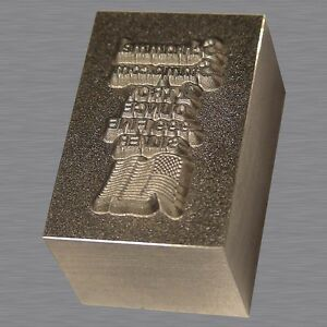Bullion Loaf Stamping Die Hand Poured Gold Silver Bar