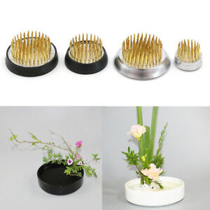 Fashion-Round-Ikebana-Kenzan-Flower-Frog-With-Gasket-Art-Fixed-Arranging-Tool-xf