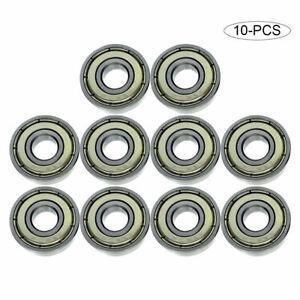 10-pcs 608-ZZ Ball Bearing 8x22x7 Dual Shielded Metal Chrome Skateboard 608Z LOT