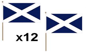 Scotland Scottish Large Hand Waving Flag 45X30Cm 12 Pack Navy Blue St Andrews