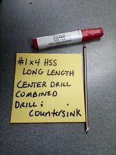 1 X 4 Hss Long Length Center Drill Combined Drill Amp Countersink 415 5405 Shars