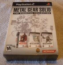 Metal Gear Solid: The Essential Collection Sony PlayStation 2 2008 1 2 3 PS1