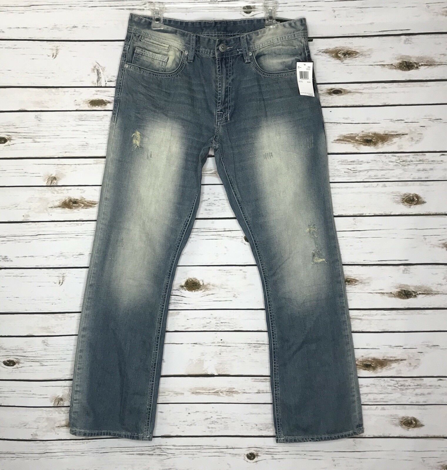 Buffalo by David Bitton King Men's Sanded and Distressed Jeans Size 33 30 NWT
