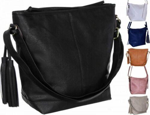 Damen Damentasche Schultertasche Umhängetasche Crossover Frauen A5 Fransen FB118