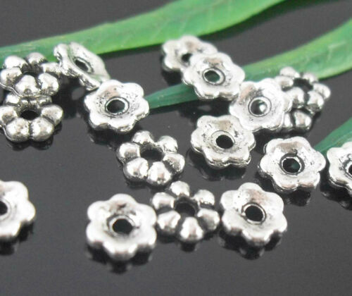 Wholesale210//430PcsTibetan Silver(Lead-Free)Star Spacer Beads Findings 4.5mm