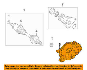 image is loading bmw-oem-08-10-x6-front-drive-axle-
