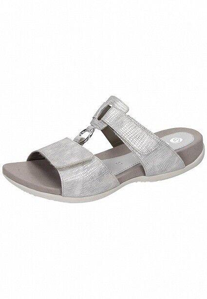 Remonte Sandale Damen Schuhe Pantolette Bequem Sandale Remonte Sandalette R3263-90 silber platin b08038