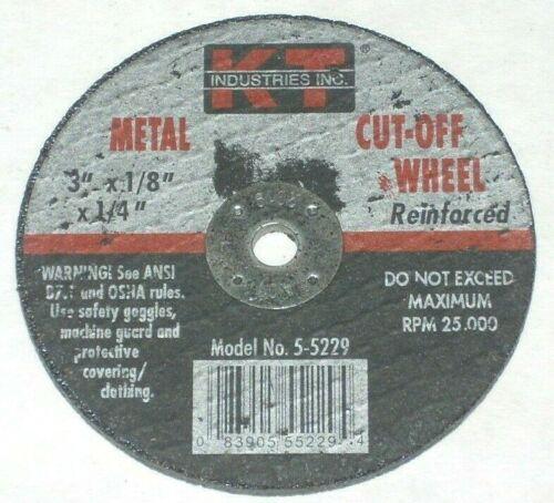 10 KT Industries 5-5229 Metal Cut-Off Grinding Wheel 3 x 1//18 x 1//4 Die Grinder
