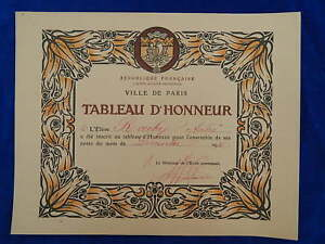 SCOLAIRE-School-TABLEAU-D-039-HONNEUR-Roll-of-honor-1916-TOP