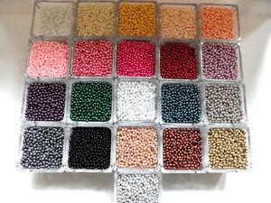 600 Wachsperlen 4mm Farbwahl Perlen Perlensterne Drahtsterne Dekoperlen Kette