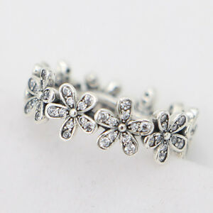 223a485b8 Image is loading Authentic-925-Sterling-Silver-Dazzling-Daisy-Meadow-Clear-
