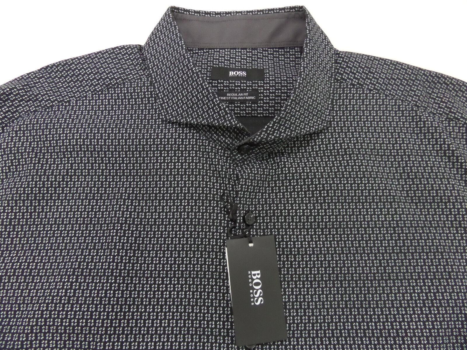 Boss Hugo Boss Regular Fit Lennie Printed Sport Shirt Mens Size XL 50296415037