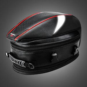 Bolsa-Deporte-Motocicleta-De-La-Cola-Trasera-De-Asiento-Trasero-Moto-Scooter-Casco-Pack-Negro