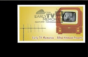 2009-FDC-Early-TV-Memories-Alfred-Hitchcock-North-Hollywood-CA