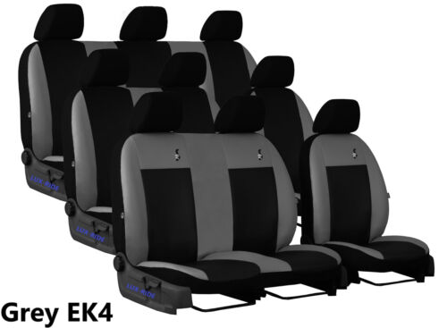 VAUXHALL VIVARO MINIBUS 9 SEATS 2014 2015 2016 ECO LEATHER TAILORED SEAT COVERS