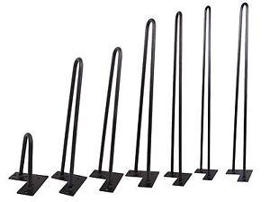 Black-Hairpin-Coffee-Table-Leg-1-2-034-Solid-Steel-DIY-Vintage-Table-Leg-6-039-039-34-039-039