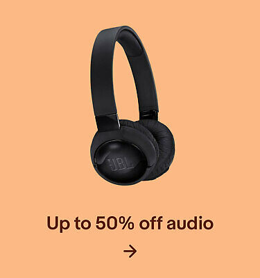 Up to 50% off audio