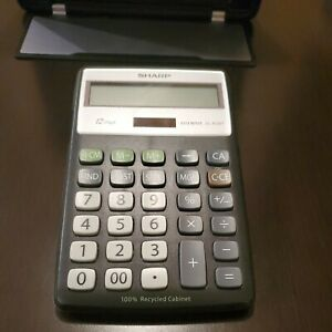 Sharp EL-R287 Recycled Series Calculator w/Kickstand 12 Digit Elsi Mate