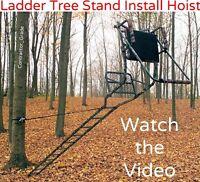 Ladder Tree Stand Installation Hoist System
