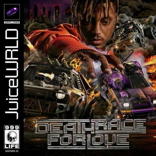 F-145 Juice WRLD Death Race For Love Rap Album Cover Fabric Poster Hot Print