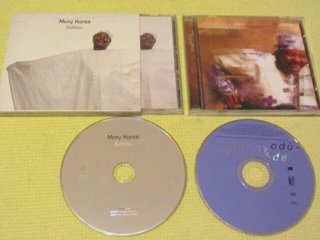 King Sunny Ade – Odù & Mory Kanté – Sabou 2 CD Albums  African Folk Rock