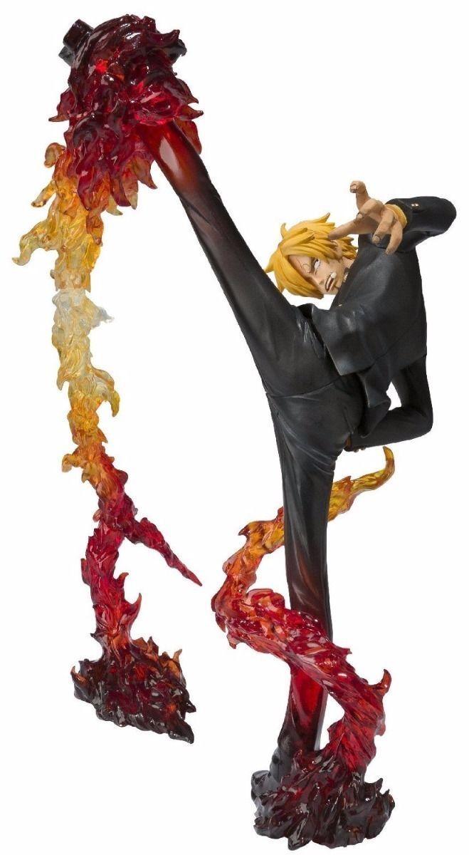 Figurines Art Zéro une Pièce Sanji Bataille Version Diable Jambe Flambage Shot