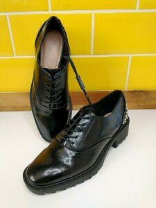 ZARA TRAFALUC Black Stud Lace Up Shoes