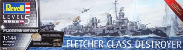 REVELL® 05150 Fletcher Class Destroyer Platinum Edition in 1:144