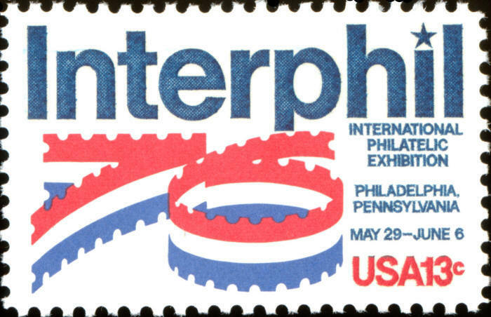 1976 13c Interphil, Philadelphia, Pennsylvania Scott 16